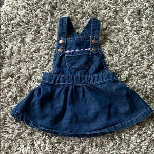 🧚BLUE JEAN OVERALL DRESS 12 MONTH SEE SALE POST